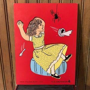 Little Miss Muffet 8 pcs Wooden Puzzle 1980